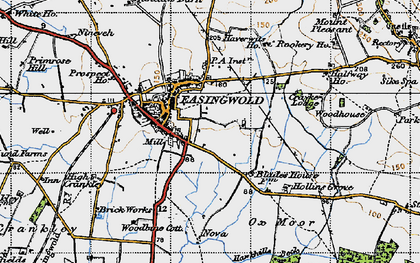 Old map of Easingwold in 1947