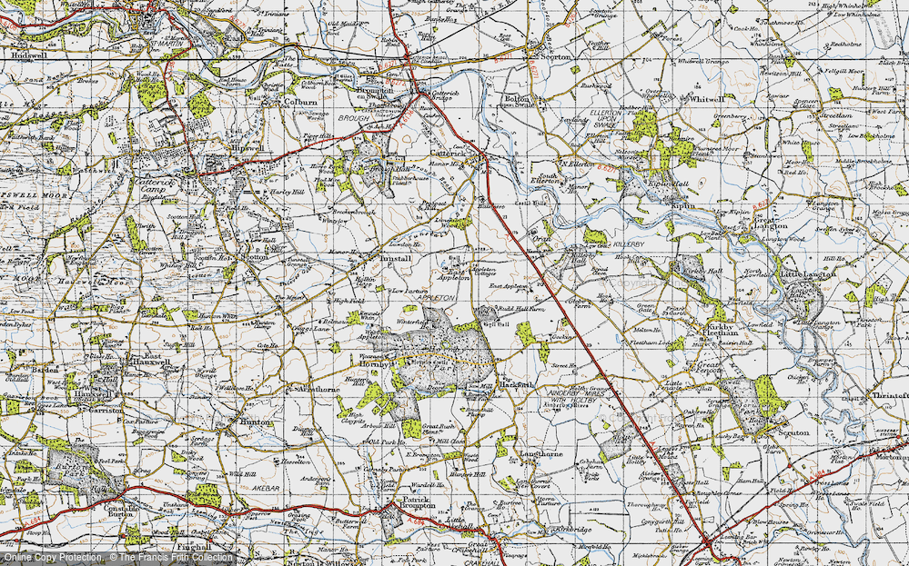 Old Map of Historic Map covering Linekiln Wood in 1947
