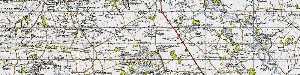 Old map of Winterfield Ho in 1947