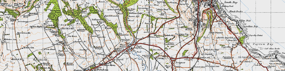 Old map of East Ayton in 1947