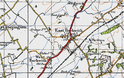 Old map of Back o' Frank's Hill in 1946