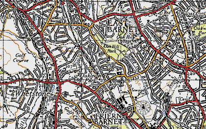 Old map of East Barnet in 1946