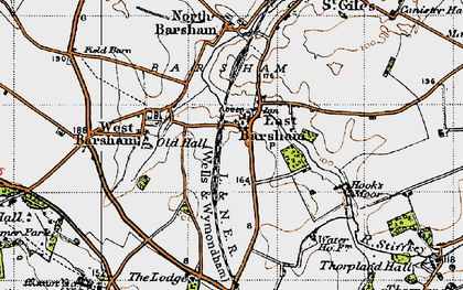 Old map of East Barsham in 1946