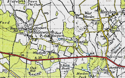Old map of Woolsbarrow (Fort) in 1940