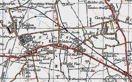 Old map of East Boldon in 1947