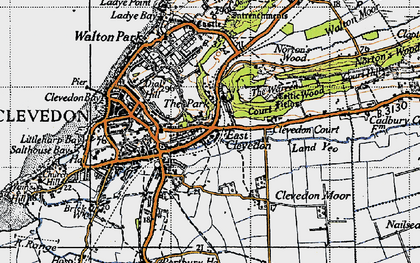 Old map of East Clevedon in 1946