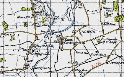 Old map of Wheldrake Ings in 1947