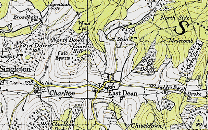 Old map of Wood Lea in 1940