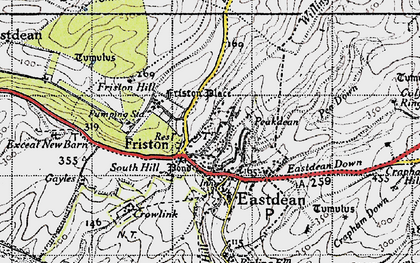 Old map of East Dean in 1940