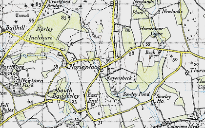 Old map of Colgrims in 1945