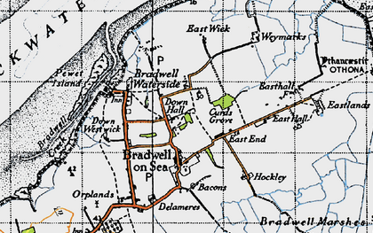 Old map of Tip Head in 1945