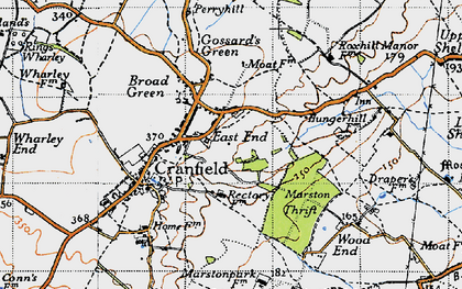 Old map of East End in 1946