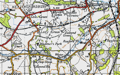 Old map of East End Green in 1946