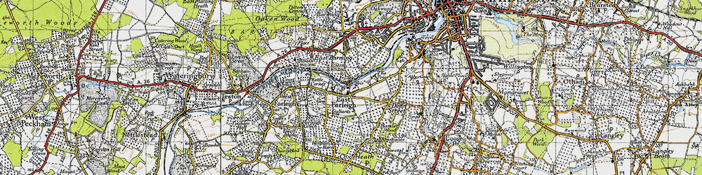 Old map of East Farleigh in 1940