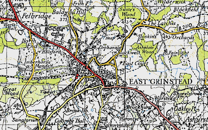 Old map of East Grinstead in 1946