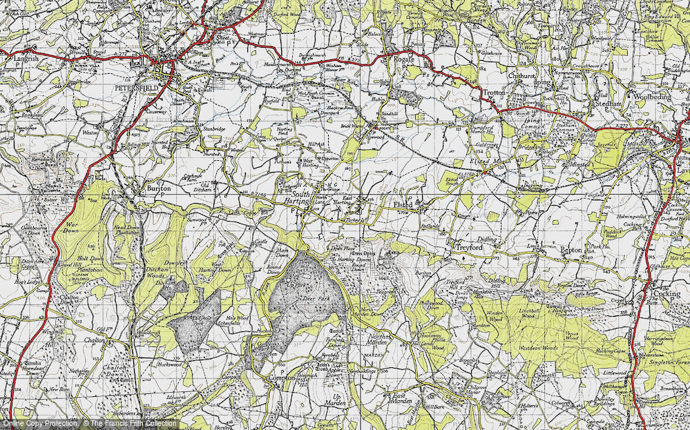 Old Map of East Harting, 1945 in 1945