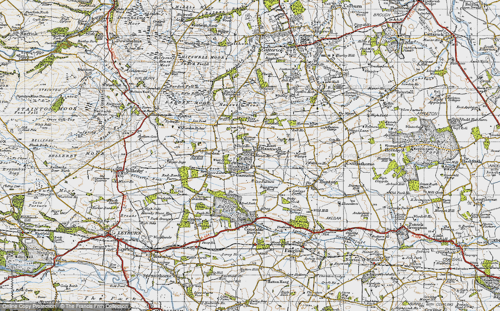 Old Map of Historic Map covering Ayrlow Banks in 1947