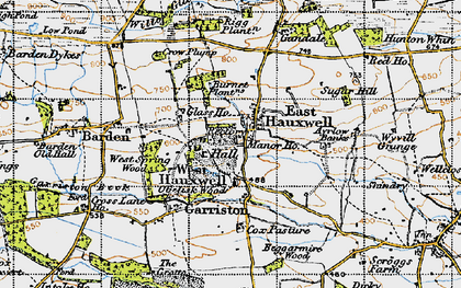 Old map of Ayrlow Banks in 1947
