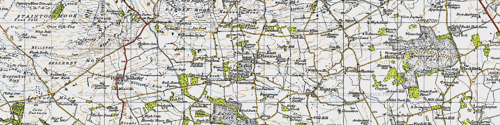 Old map of Willow Gill in 1947