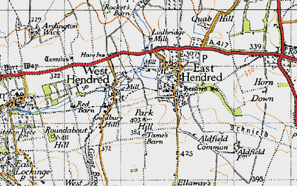 Old map of Aldfield Common in 1947