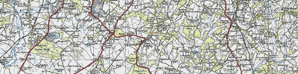 Old map of East Hoathly in 1940