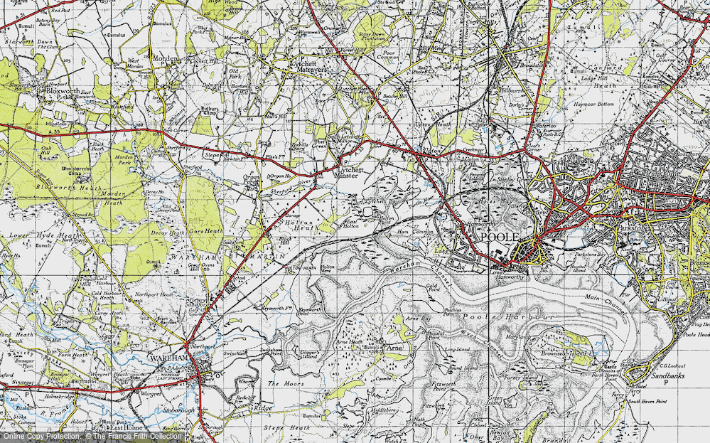 Old Map of Historic Map covering Wood Bar Looe in 1940