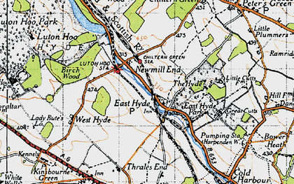 Old map of East Hyde in 1946