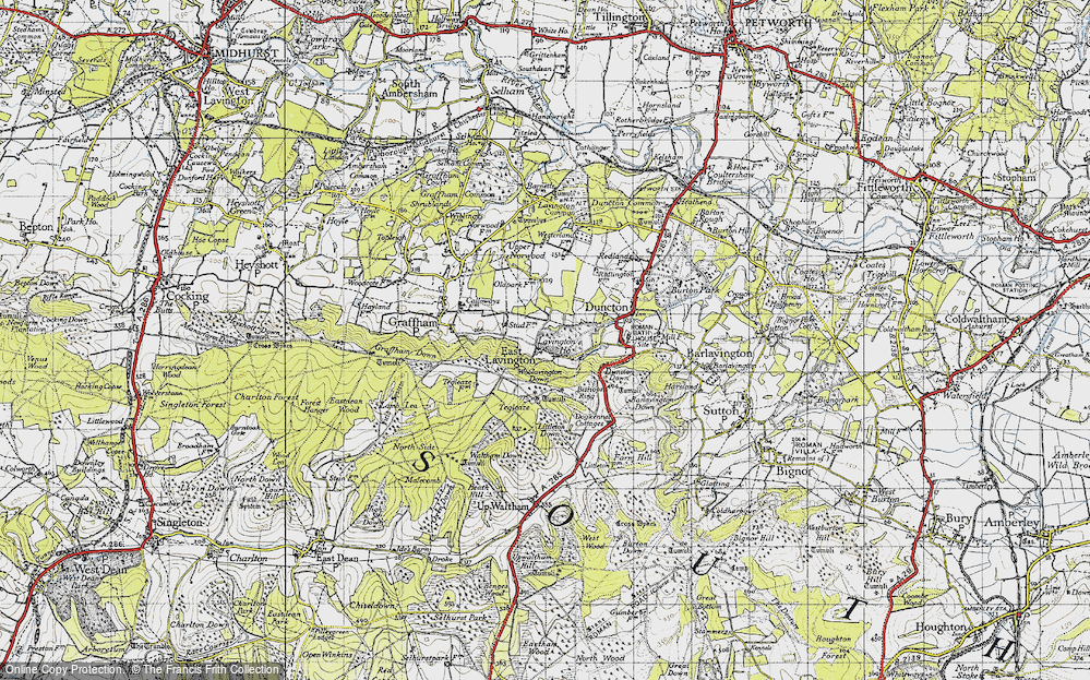 Old Map of Historic Map covering Woolavington Down in 1940