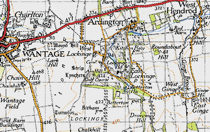 Old map of Lark Hill in 1947
