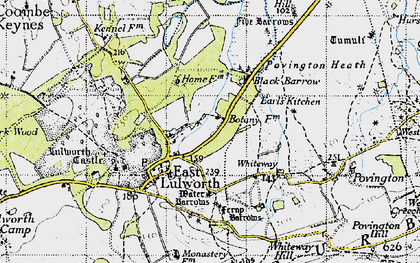 Old map of East Lulworth in 1946