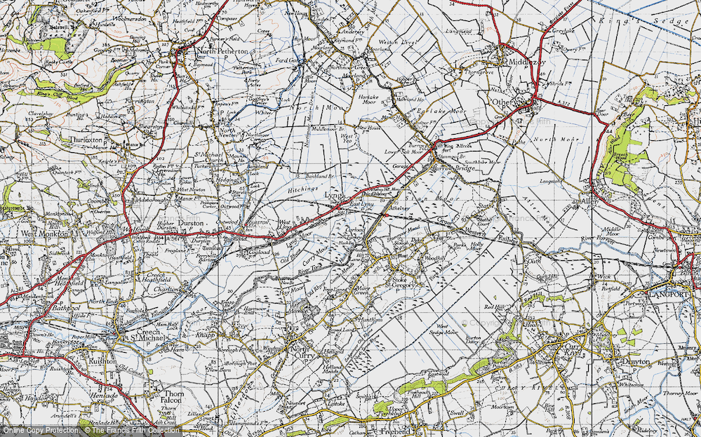 Old Map of East Lyng, 1945 in 1945
