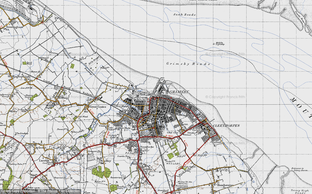 Old Map of East Marsh, 1946 in 1946