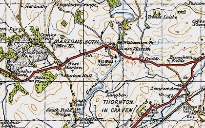 Old map of Williamson Br in 1947
