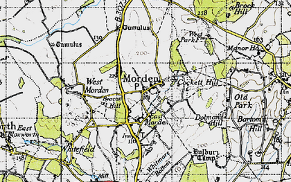 Old map of Whitmore Bottom in 1940