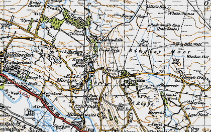 Old map of East Morton in 1947