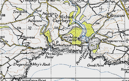Old map of East Portholland in 1946