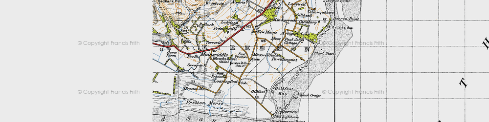 Old map of West Preston in 1947