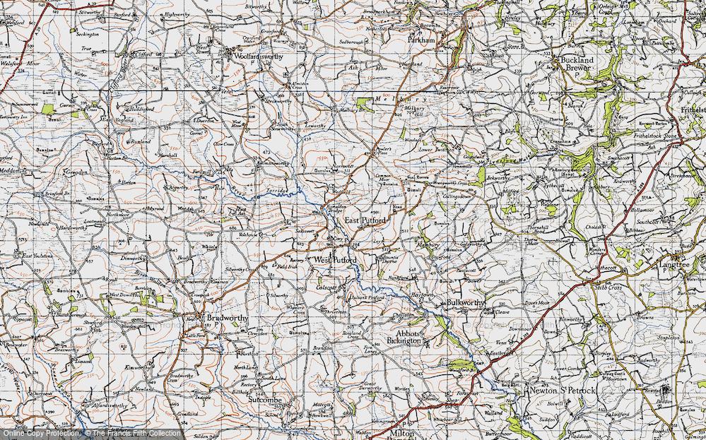 Old Map of East Putford, 1946 in 1946