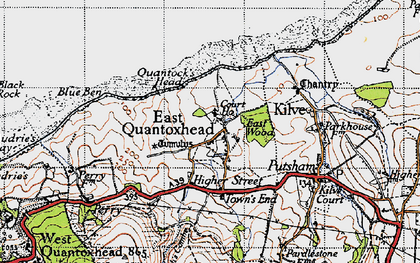 Old map of East Quantoxhead in 1946