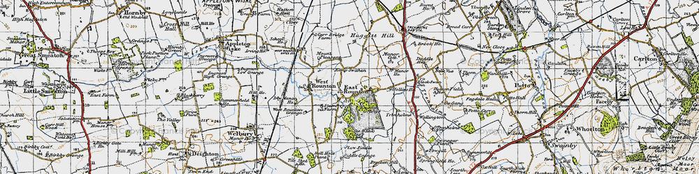 Old map of Wiske Bank Plantn in 1947