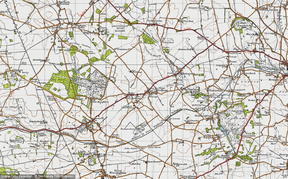 Old Map of East Rudham, 1946 in 1946