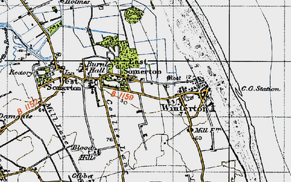 Old map of Winterton Ness in 1945