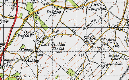 Old map of White Cliffs Country Trail in 1947