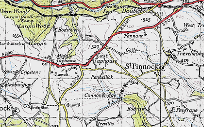 Old map of East Taphouse in 1946