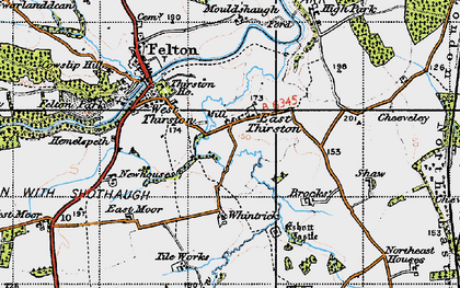 Old map of Wintrick in 1947