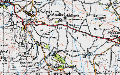 Old map of Addiscott in 1946