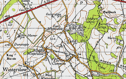 Old map of Ashley's Copse in 1940