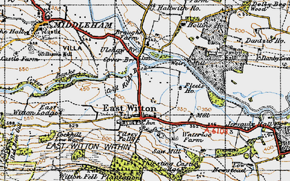 Old map of Abbey Hill in 1947