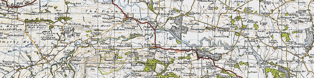 Old map of East Witton in 1947