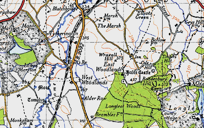 Old map of Wraxall Hill in 1946